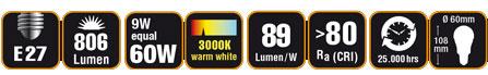 Duracell® LED A24 (E27, 806 Lumen, 9 Watt, warm weiß)