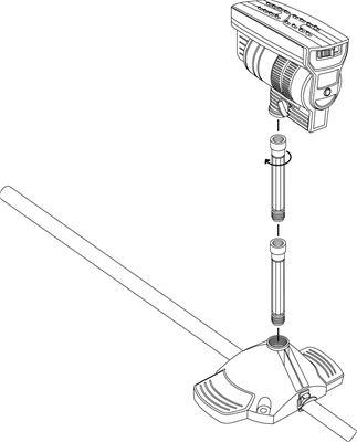Gardena Micro-Drip-System Verlängerungsrohr für Viereckregner 2 Stück (8363-20)