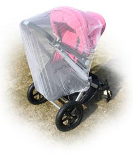 Jarolift Fliegengitter für Kinderwagen weiß