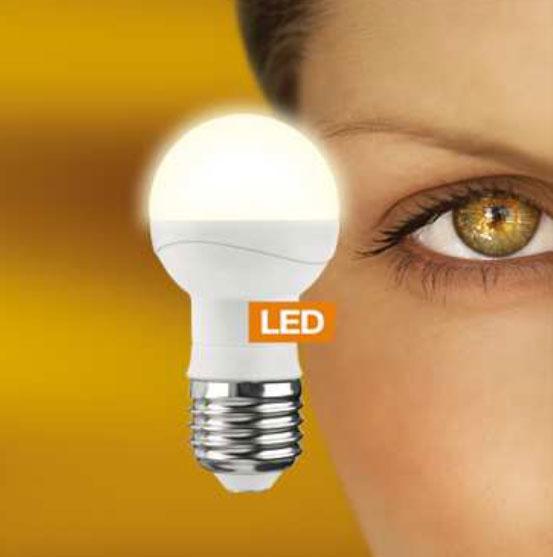 LEDON LED-Tropfenlampe P45 5W E27 warm weiß (28000516)