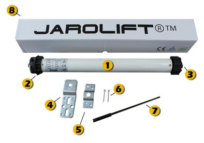 Jarolift SL45 Rohrmotor, 20 Nm mit mechanischem Endschalter Ø45 mm für SW60