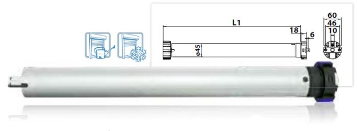 Vestamatic Vestaline VL-ME-45 Rohrmotor, 10 Nm mit elektronischer Endlageneinstellung und Hindernise