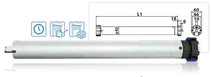 Vestamatic Vestaline VL-ME-45 Funk-Rohrmotor, 10 Nm mit elektronischer Endlageneinstellung u. Hinder