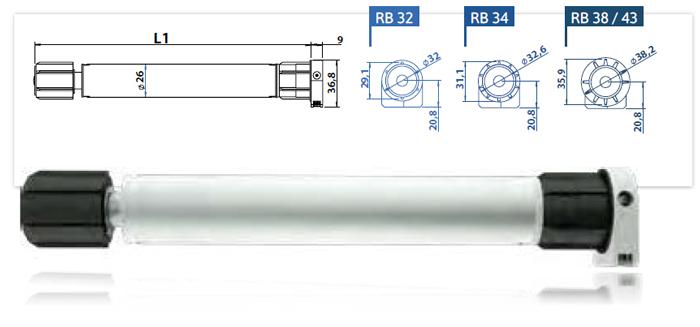 Vestamatic Lovoline-Kleinspannungsmotor E-Line LL-ME 24-26/0,9Nm RB32