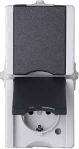 Serienschalter IP44 AP-Feuchtraum Serie proAQA - Kopp grau (540556009)