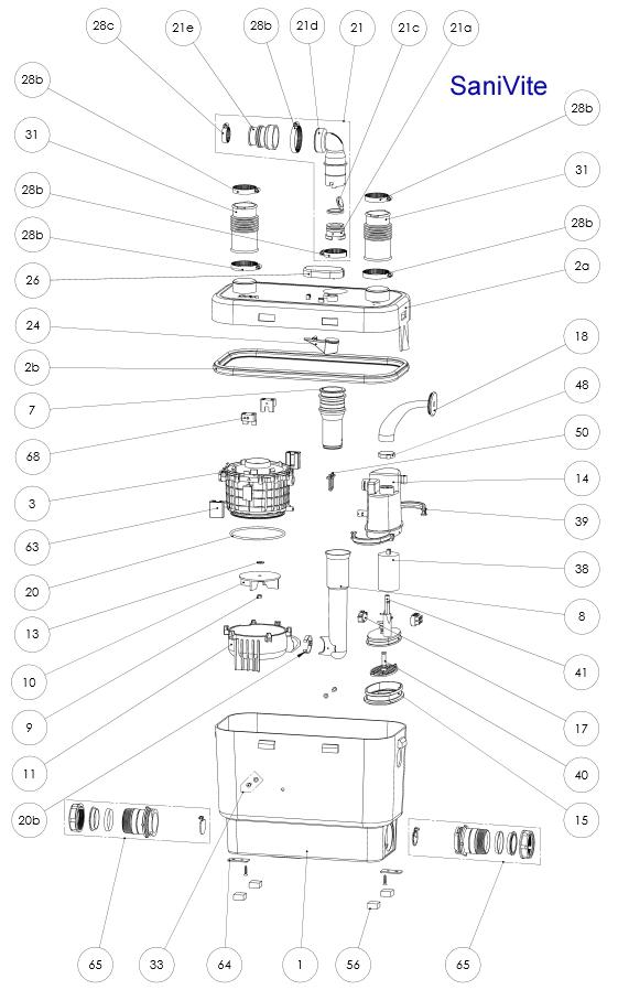 Sanibroy SFA  Ablaufschelle 32 - 55 (Art: XR2280, Pos. 28b)