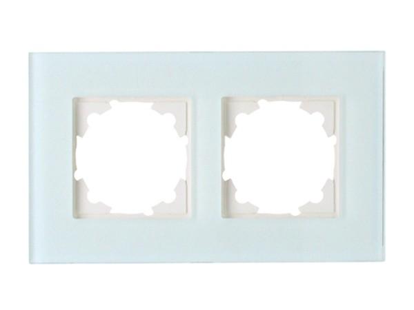 Abdeckrahmen 2-fach aus Glas mint Serie Athenis - Kopp (405408014)