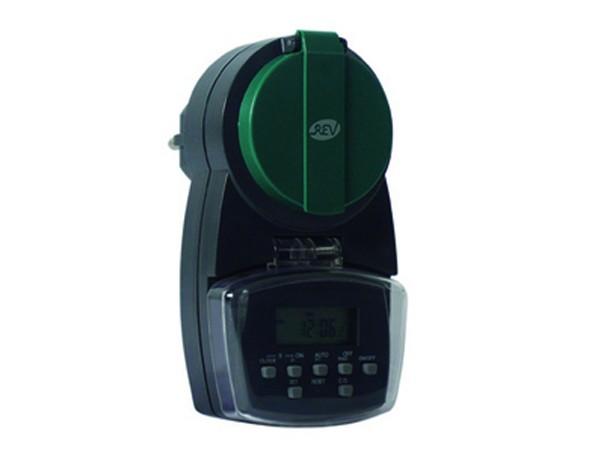 Zeitschaltuhr digital Außen anthrazit-grün - REV-Ritter (0025760603)
