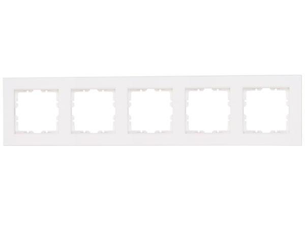 Abdeckrahmen 5-fach Objekt HK 07 rein-weiß Kopp (402929004)