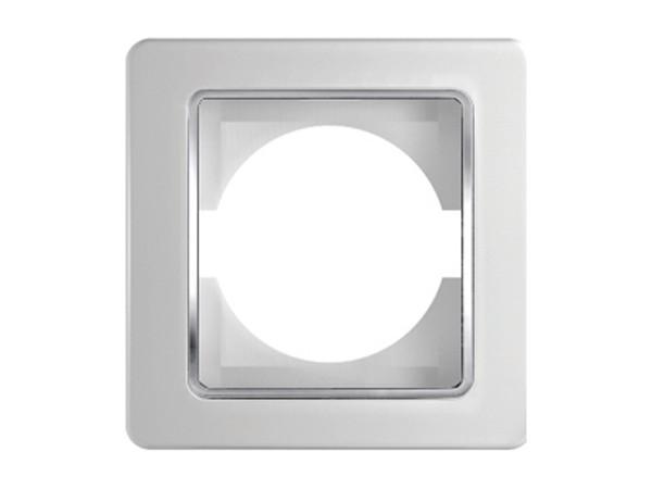 1-Fachrahmen weiß-duroplast Serie ekonomik (OE10CO)