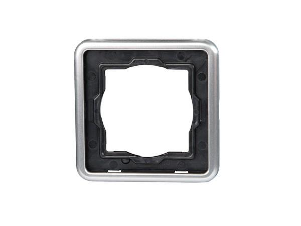 Abdeckrahmen 1-fach stahl Serie Vision - Kopp (302320066)