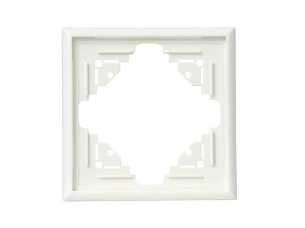 Abdeckrahmen 1-fach weiß Serie Malta - Kopp (309101088)