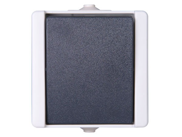 Kreuzschalter IP44 AP-Feuchtraum Serie proAQA - Kopp grau (540756005)