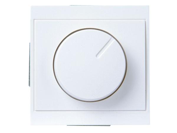 Druck-Wechsel-Dimmer (Phasenabschnitt) Serie Malta arktis-weiß - Kopp (800313089)