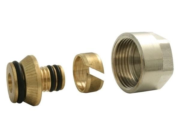 Marley DreMa 2x Euro-Adapter vernickelt für 16mm Aluverbundrohr (Nr.108)