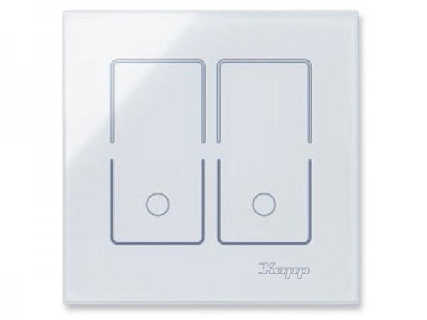HK i8 Glas-Sensor-Doppelschalter Kopp, eckig (852002010)