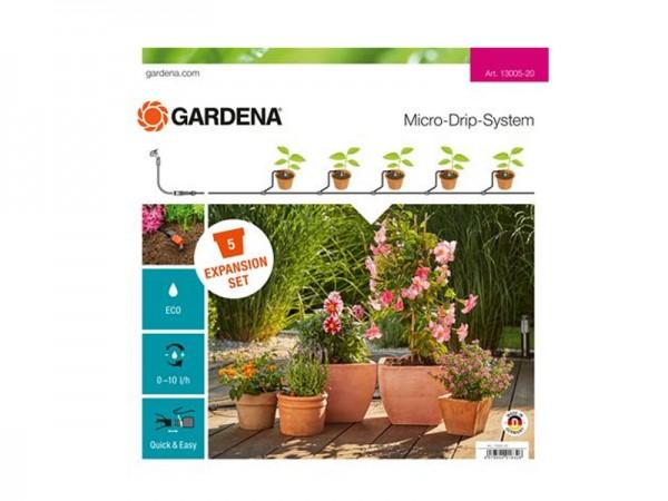 Gardena Micro-Drip-System Erweiterungsset Pflanzentöpfe (13005)