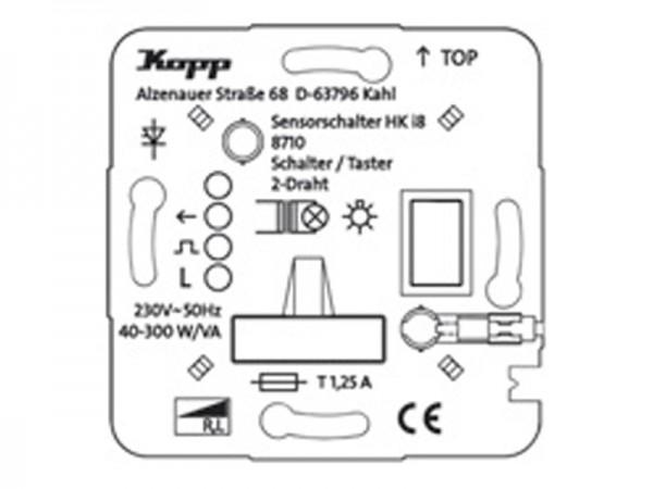 HK i8 UP-Leistungsteil Schalter/Taster, 2-Draht Kopp (871000010)