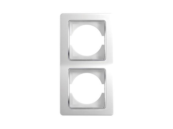 2-Fachrahmen vertikal weiß-duroplast Serie ekonomik (OE21CO)