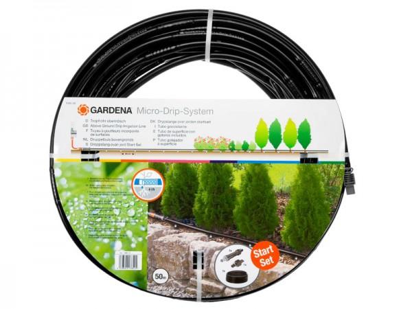 Gardena Micro-Drip-System Tropfrohr oberirdisch mit Armatur 13 mm, 50 m (1385-20)