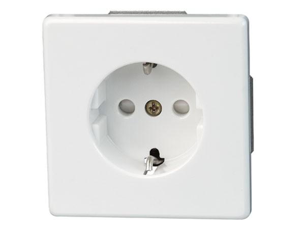 Schutzkontakt-Steckdose mit erhöhtem Beührungschutz Serie Vision arktis-weiß Kopp (112702081)