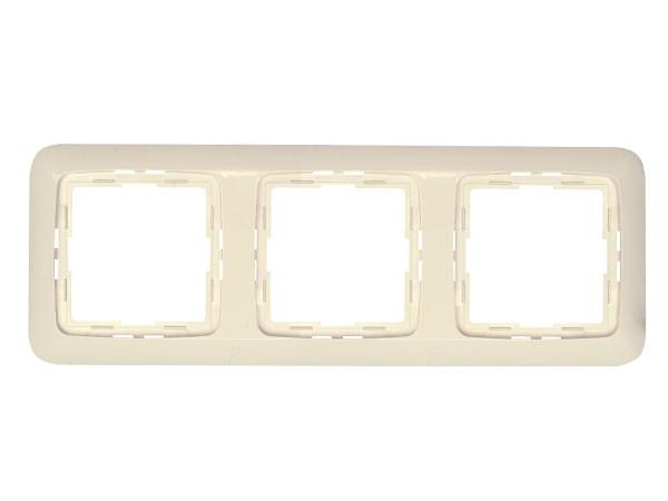 Abdeckrahmen 3-fach Serie Rivo creme-weiß Kopp (404317061)