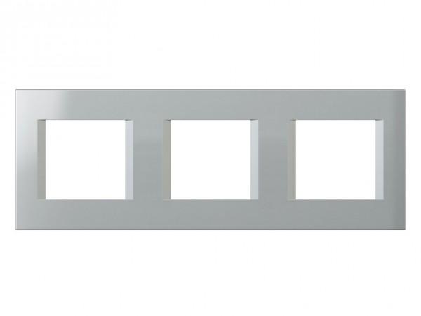 TEM Serie Modul Plus LINE Abdeckrahmen 3x2M silber (OL26ES-U)