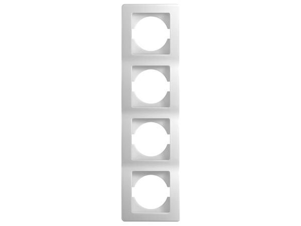 4-Fachrahmen vertikal weiß-glanz Serie ekonomik (OE41PW)