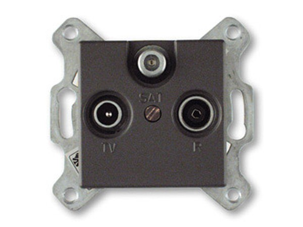 REV Ritter Düwi Trend SAT-Antennen-Steckdose, coolgray (41083)