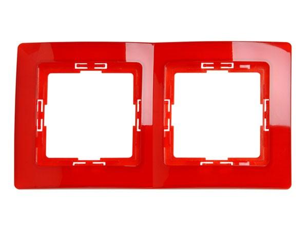 Abdeckrahmen 2-fach Serie Paris rot transparent - Kopp (308512087)