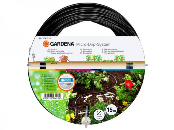 Gardena Micro-Drip-System Tropfrohr oberirdisch 4,6 mm, 15 m (1362-20)
