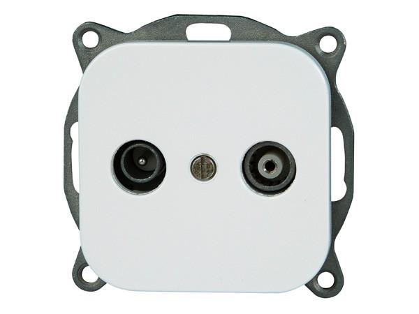 Antennensteckdose TV/RF Serie Donau arktis-weiß - Kopp (117602007)