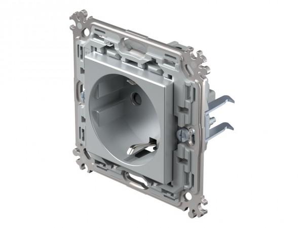 TEM Serie Modul Plus Schutzkontakt-Steckdose silber (CV10ESXO-D)