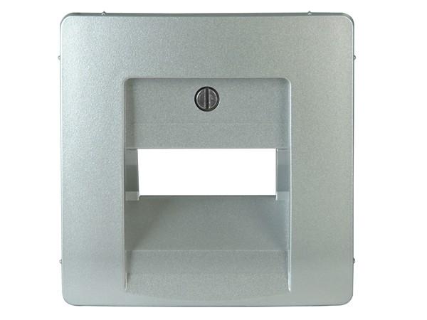 Abdeckung für UAE-Anschlussdose Serie Paris silber - Kopp (326120082)