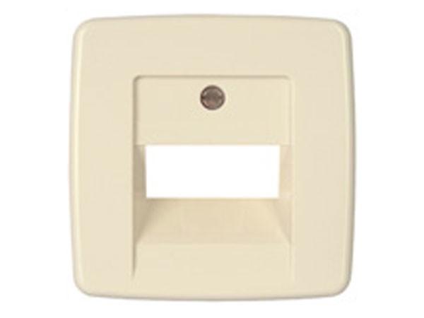 Abdeckung für TAE-Telefon-Anschlussdose Serie Rivo creme-weiß Kopp (339501184)