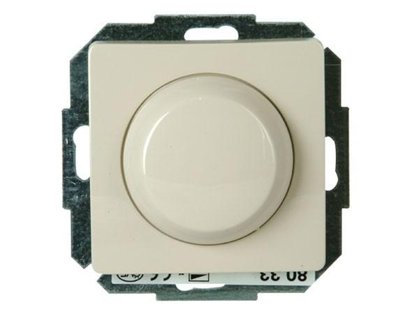 Dimmer mit Wippen-Wechselschalter Phasenabschnitt Serie Paris creme-weiß - Kopp (803501089)
