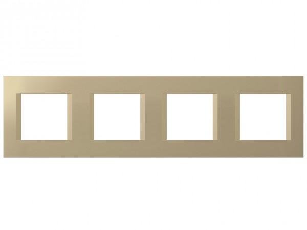 TEM Serie Modul Plus LINE Abdeckrahmen 4x2M sandgold (OL28SG-U)