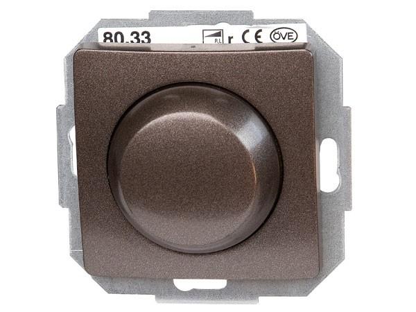 Elektronischer Dimmer mit Wippen-Wechselschalter Phasenabschnitt Serie Paris palisander-braun - Kopp