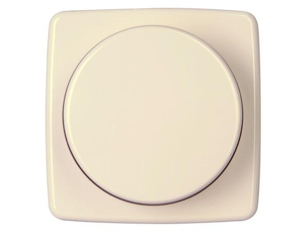 Dimmerabdeckung für Druck-Wechseldimmer Serie Rivo creme-weiß Kopp (335201181)