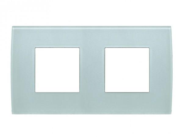 TEM Serie Modul Plus PURE Glas Abdeckrahmen 2x2M Eisgrün (OP24GG-U)