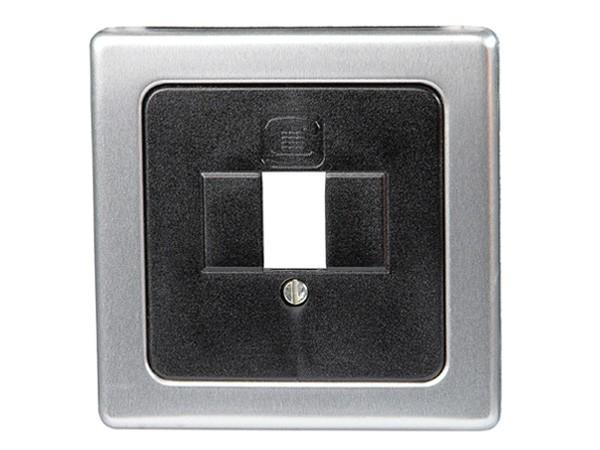 Abdeckung für TAE-Telefon-Anschlussdose stahl Serie Vision - Kopp (350220183)