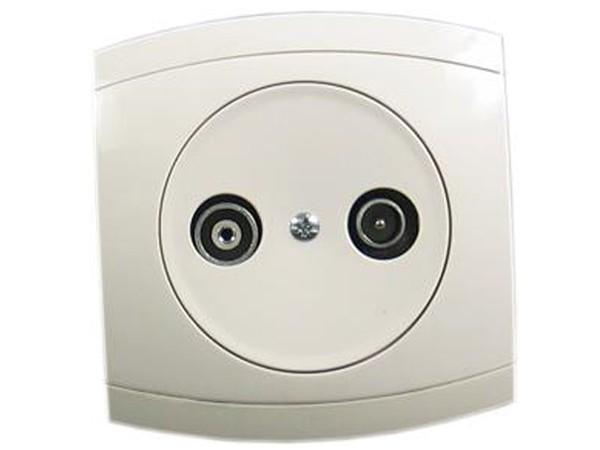 Antennen-Steckdose 2 Ausgänge Serie Modena weiß - REV-Ritter (00852104)