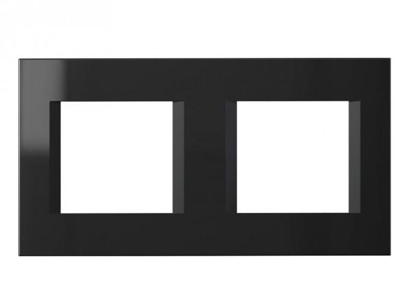 TEM Serie Modul Plus LINE Abdeckrahmen 2x2M schwarz-glanz (OL24NB-U)