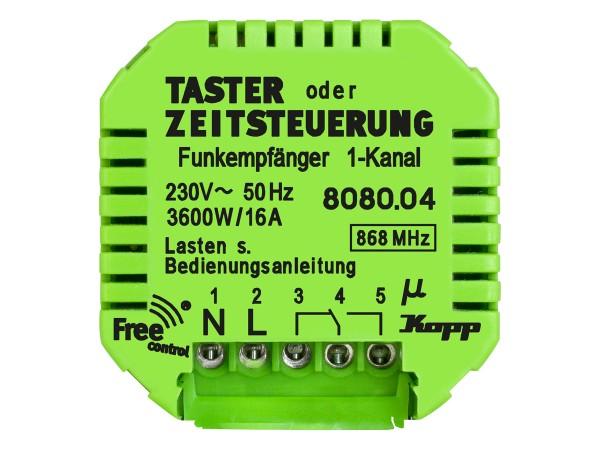 Free control Funk-Empfänger Taster-/ Zeitfunktion  (808004123)