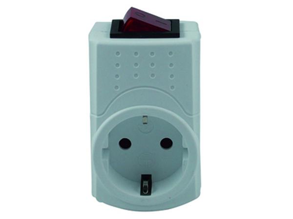 steckdosen zwischenstecker mit schalter rev ritter 0512085777 home4u. Black Bedroom Furniture Sets. Home Design Ideas