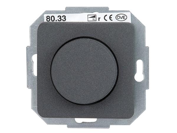 Elektronischer Dimmer mit Wippen-Wechselschalter (Phasenabschnitt) Serie Milano anthrazit - Kopp