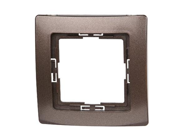 Abdeckrahmen 1-fach Serie Paris palisander-braun - Kopp (308426085)