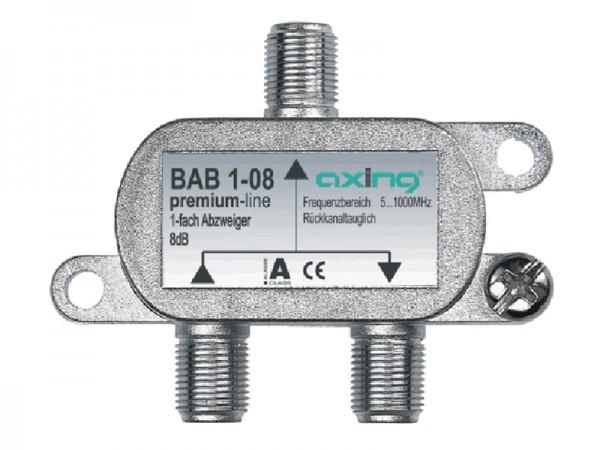 Axing 1 fach Abzweiger 18 dB, 5 ... 1006 MHz  (BAB 1-18)