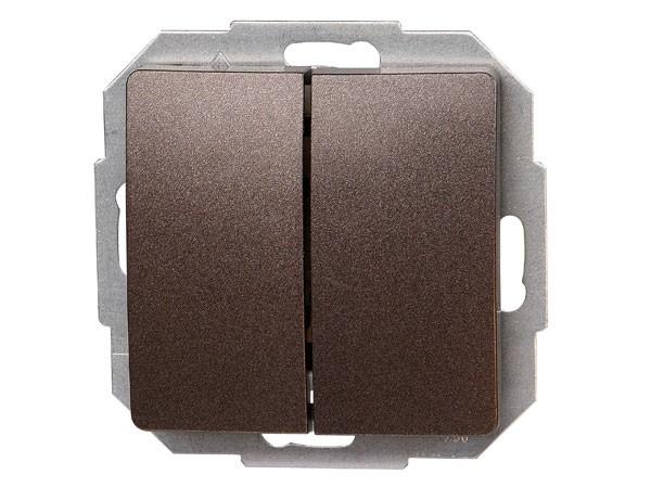 Serienschalter Serie Paris palisander-braun - Kopp (650526060)