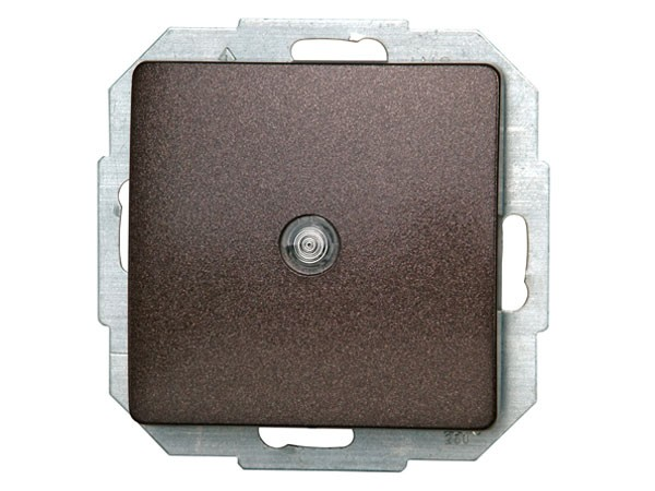 Taster beleuchtbar Serie Paris palisander-braun - Kopp (651376084)